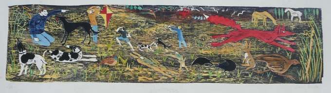 Oblivious - 35 x 9 inches. £195.00 (unframed) or £280.00 (framed).Exhibited in the Royal Academy.