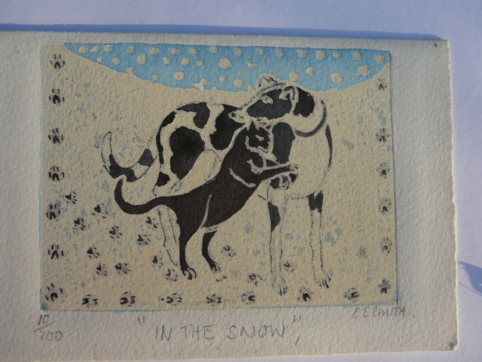 In the snow £2.00