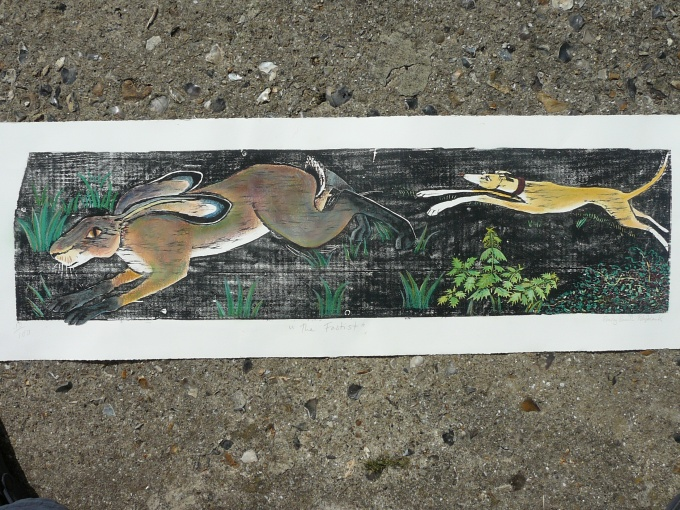 The fastest. - 34x9 inches (£110 unframed) (£200 framed)
